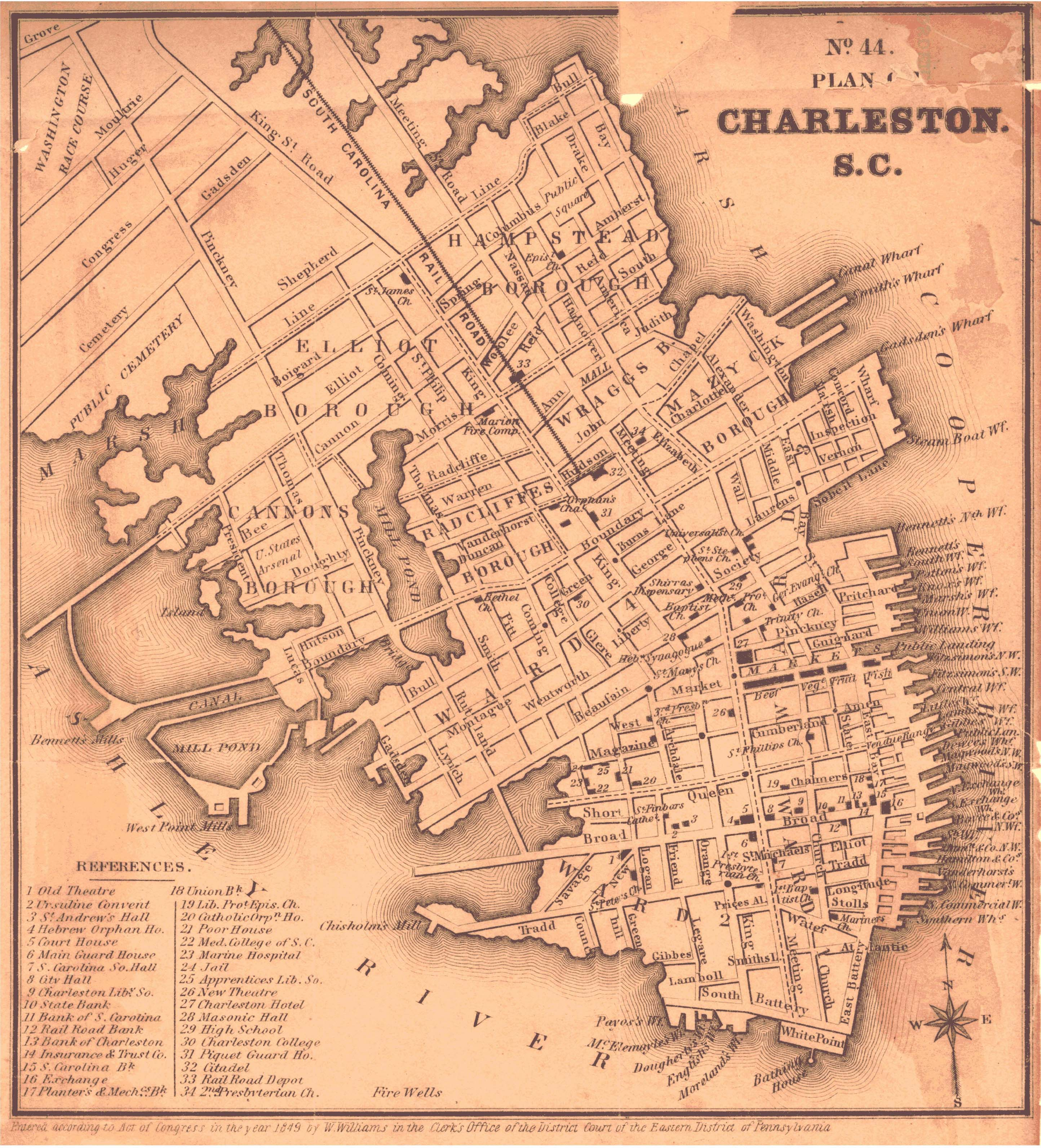 File 1849 map of charleston south for How do i get to charleston south carolina
