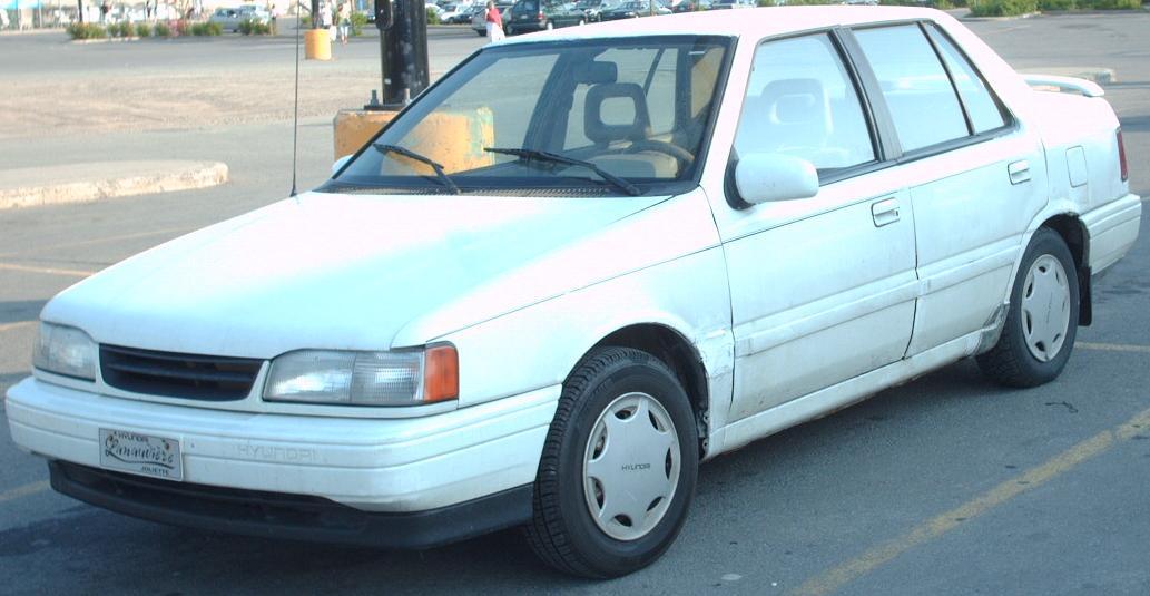 hyundai excel. File:1992 Hyundai Excel Sedan.