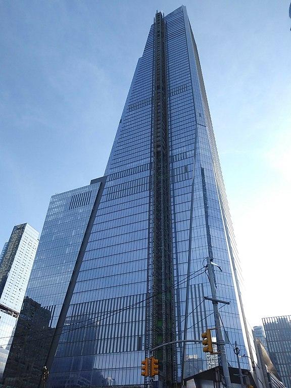 本社の入居する超高層ビル(30 ハドソン・ヤード)