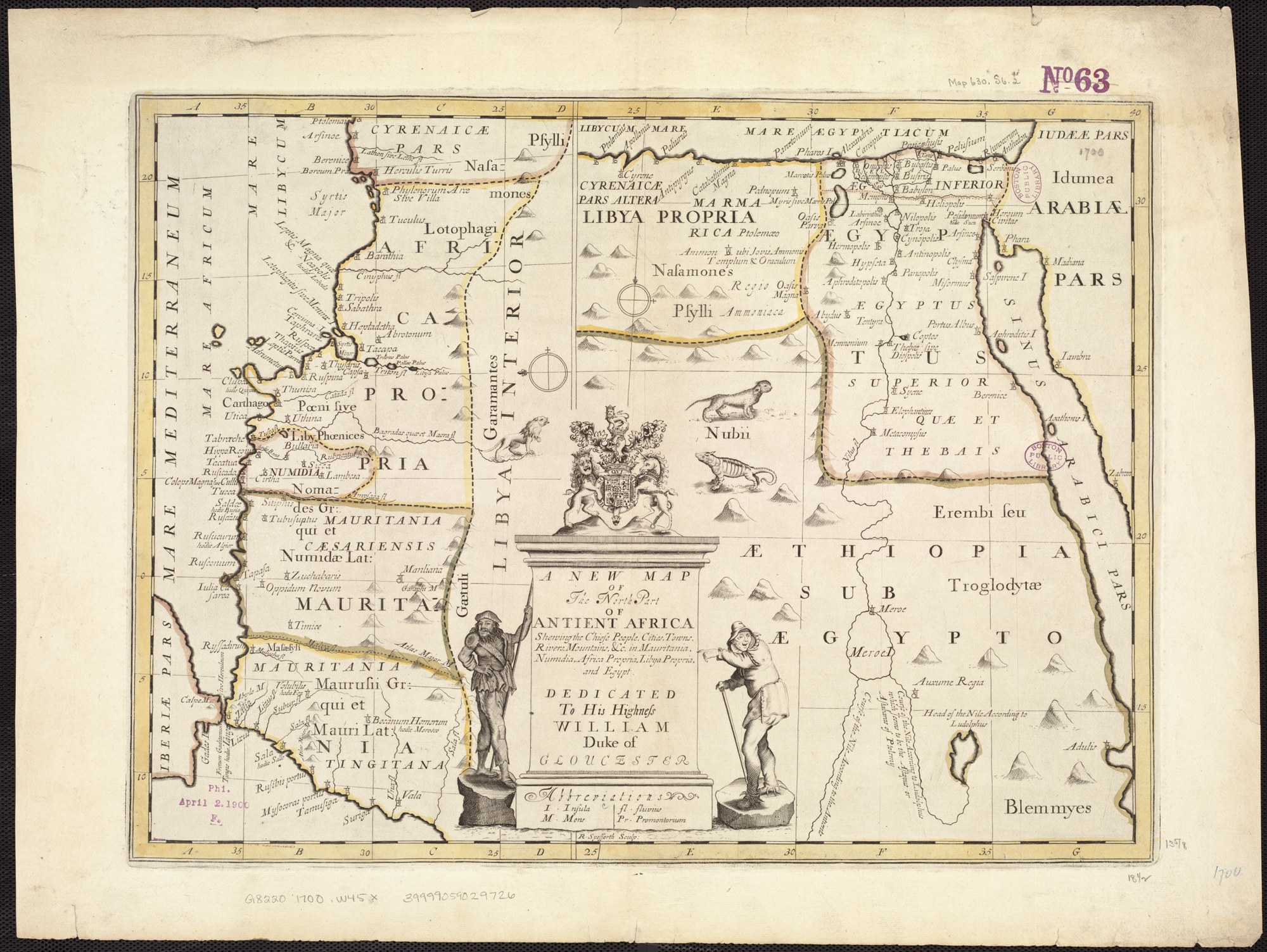FileA New Map Of The North Part Of Antient Africa Shewing The - Map of egypt mountains