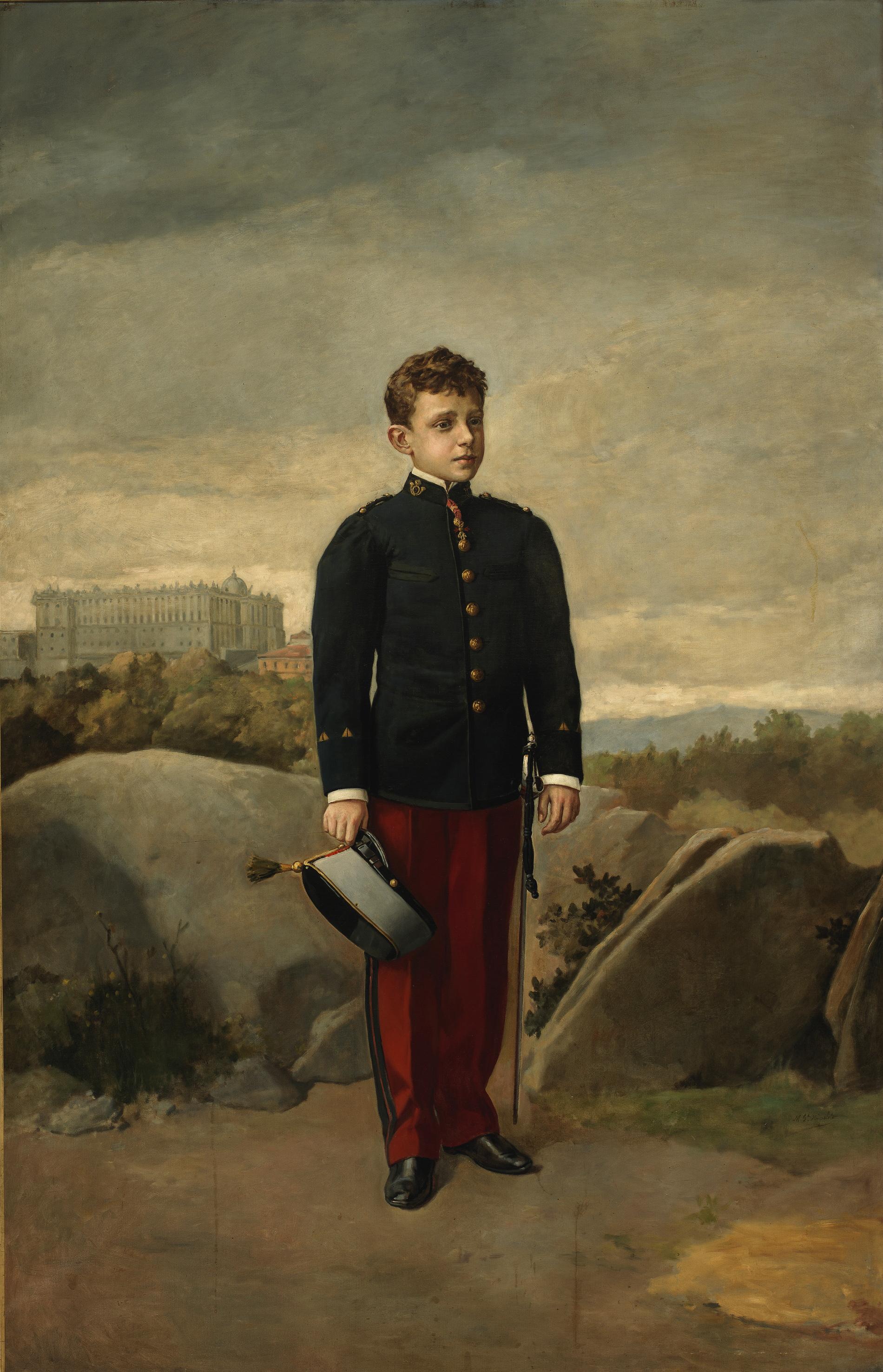 File:Alfonso XIII, cadete, de Manuel García Hispaleto.jpg ...