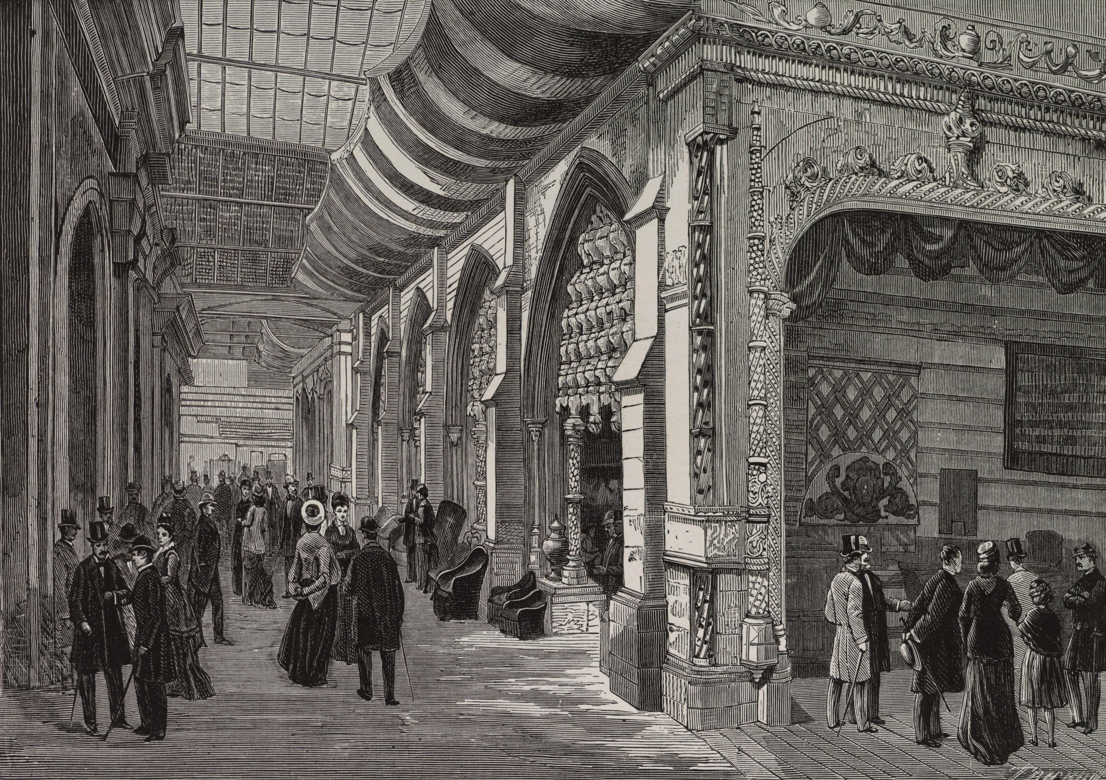 File arcades lat rales de la section portugaise dans le for Expo paris mars