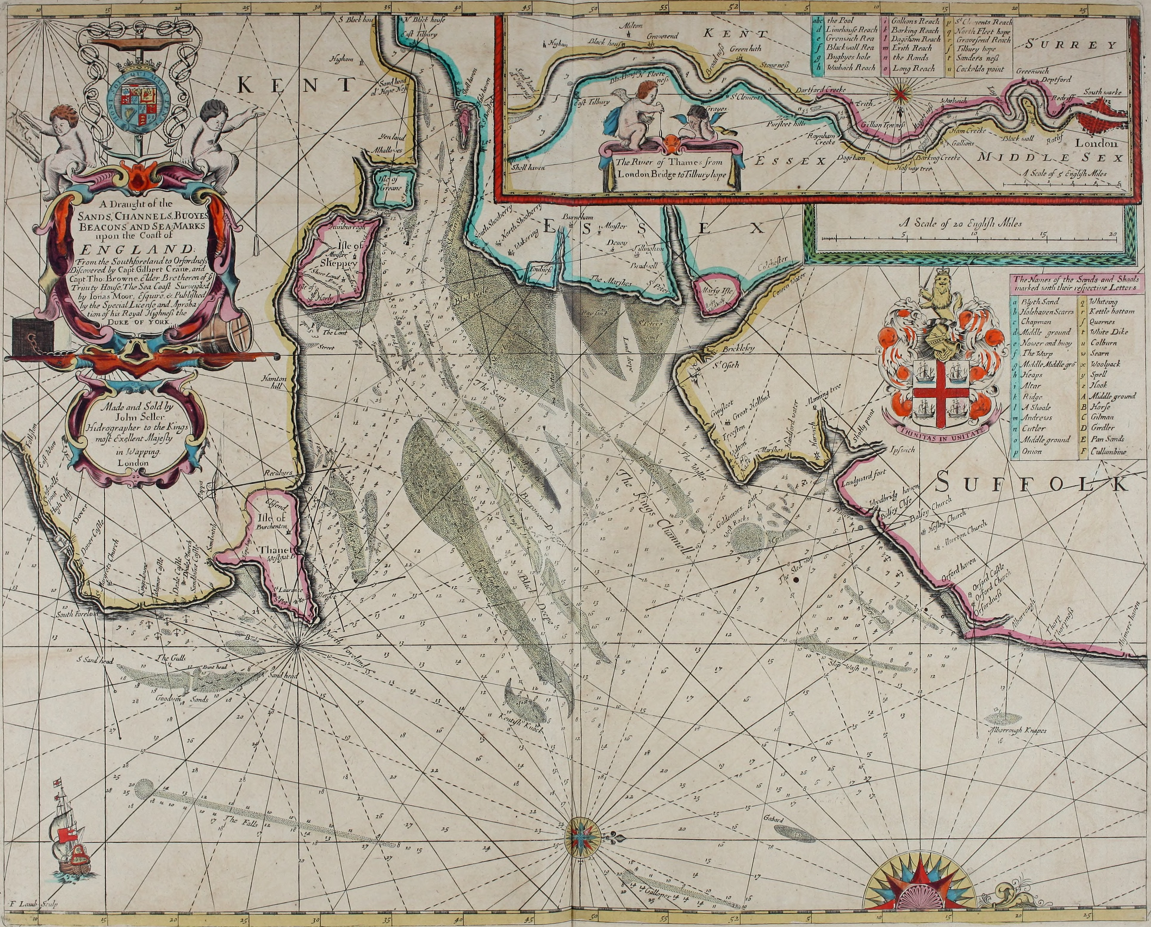 Fileatlas maritimus or a book of charts describeing the sea fileatlas maritimus or a book of charts describeing the sea coasts capes headlands sands shoals rocks and dangers the bayes roads harbors rivers and gumiabroncs Choice Image