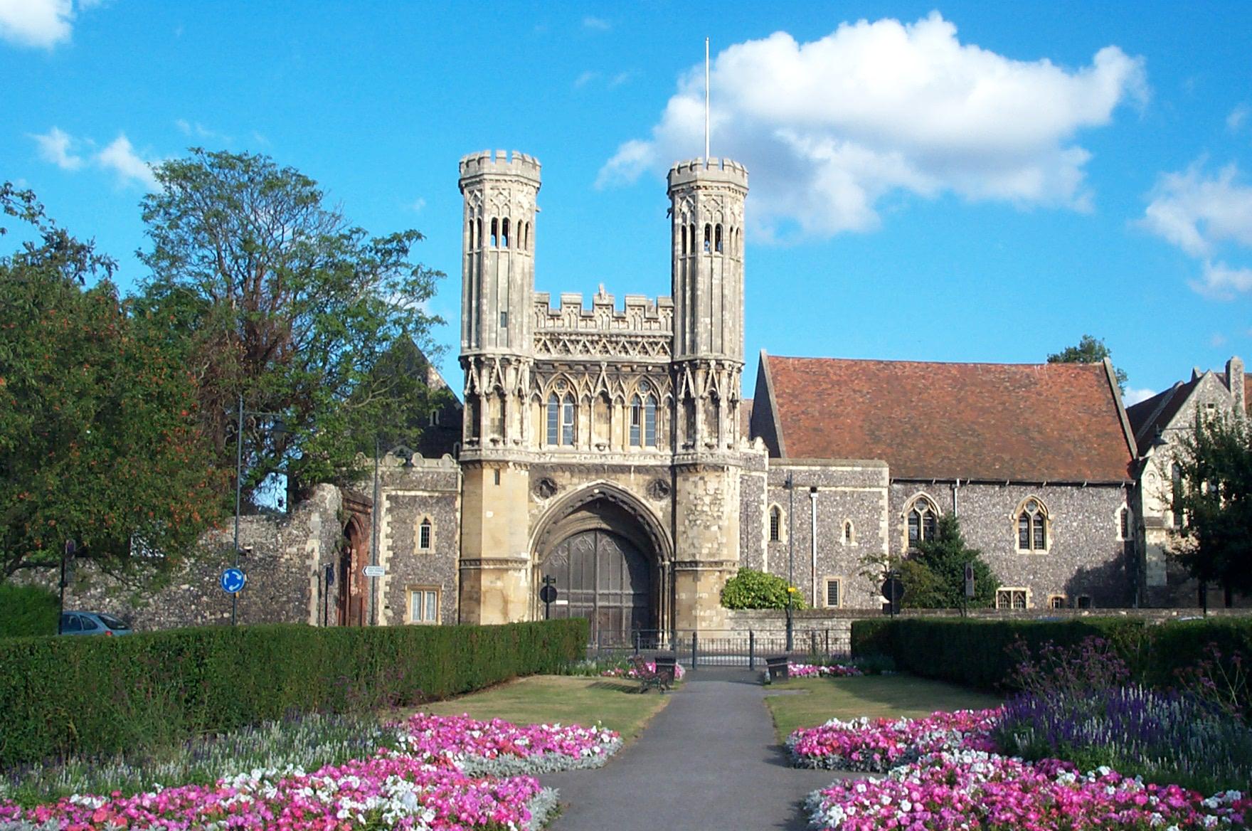 """""""Augustine Abbey"""" by User Willhsmit on en.wikipedia - Own work. Licensed under Public Domain via Wikimedia Commons - http://commons.wikimedia.org/wiki/File:Augustine_Abbey.jpg#/media/File:Augustine_Abbey.jpg"""