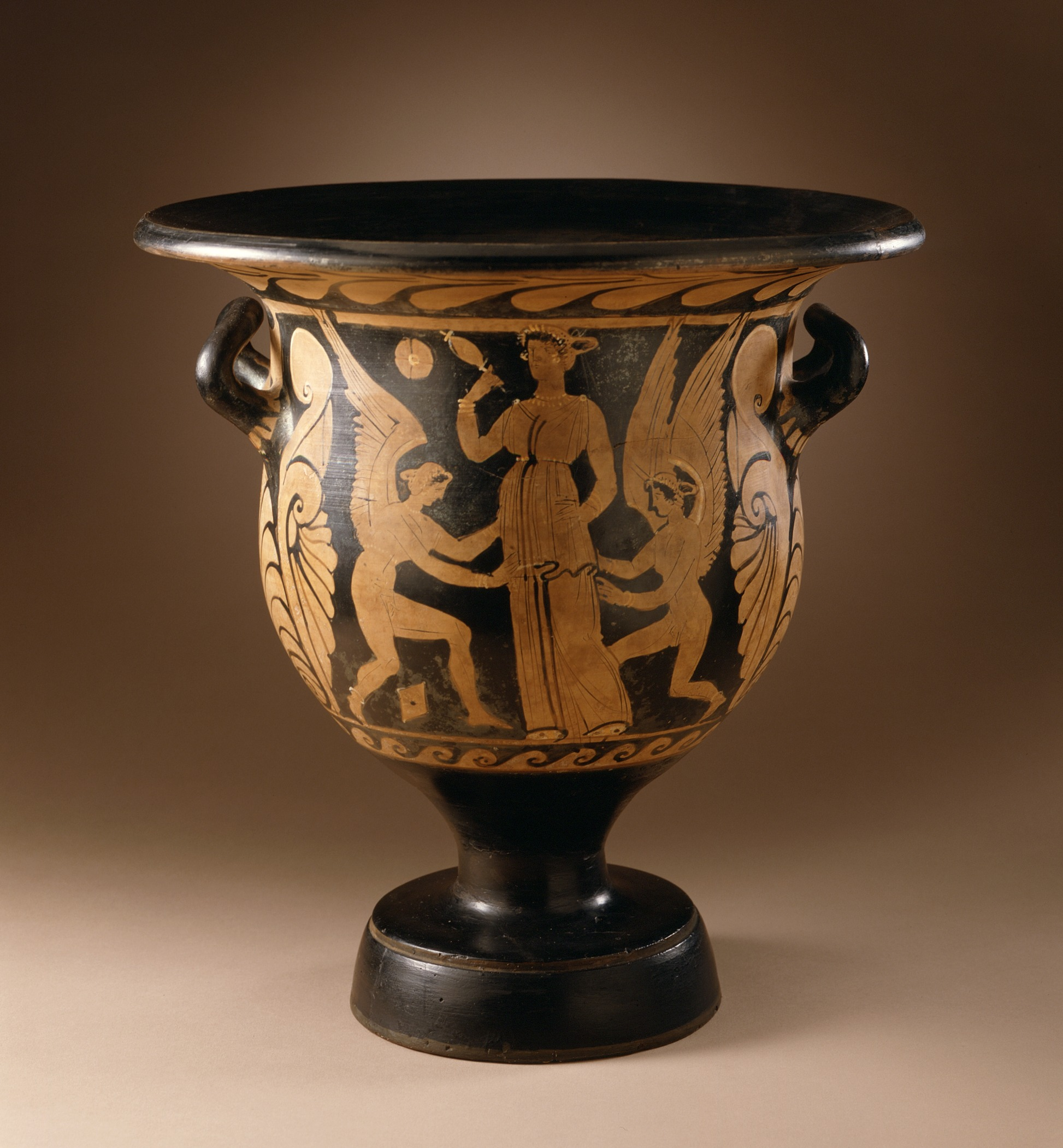 File Bell Krater With Two Female Acrobats And Cupids