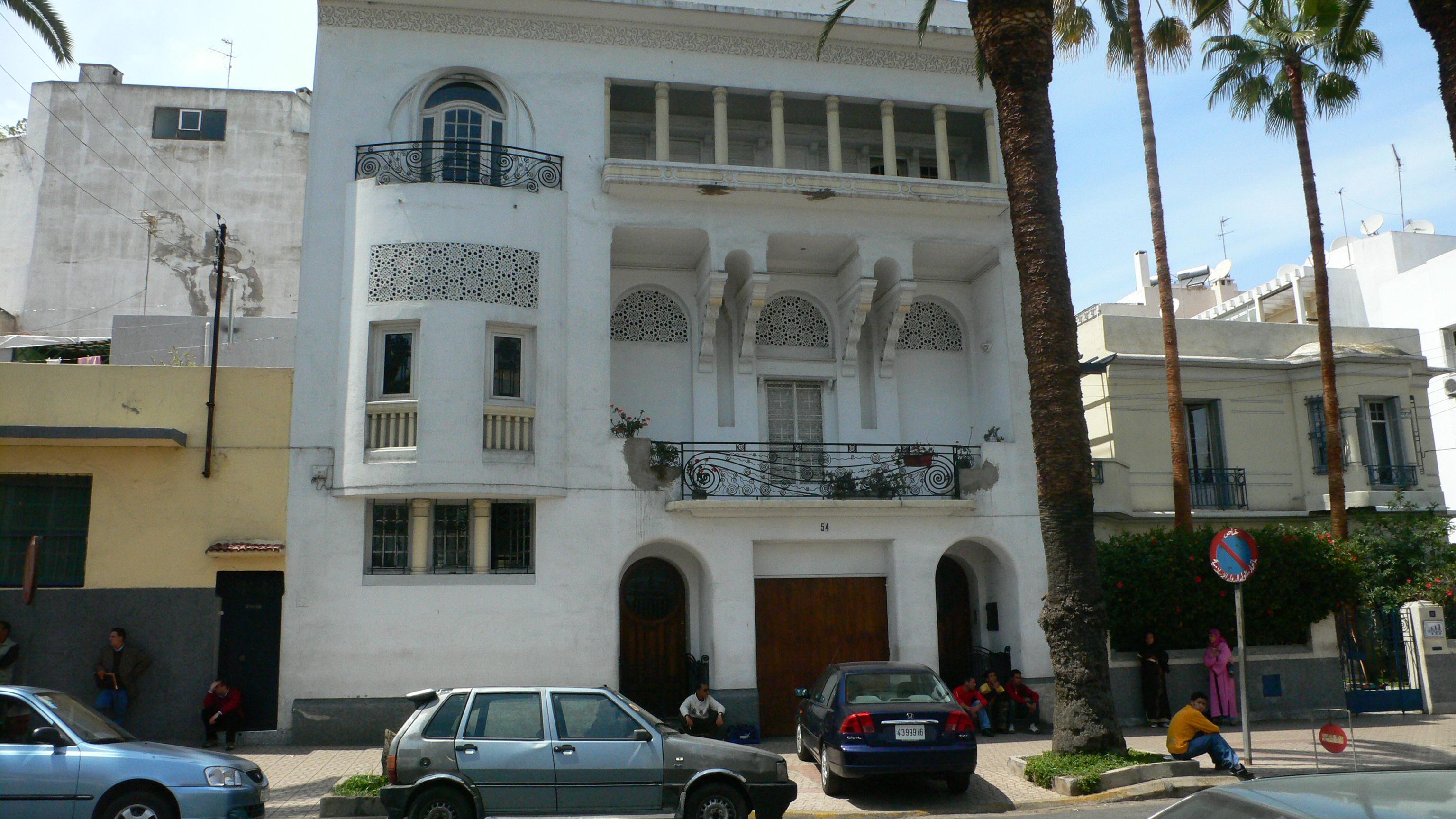 File boyer marius 1930 casablanca villa rue d 39 alger for Bank exterieur d algerie