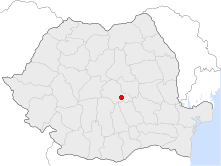 Location of Braşov