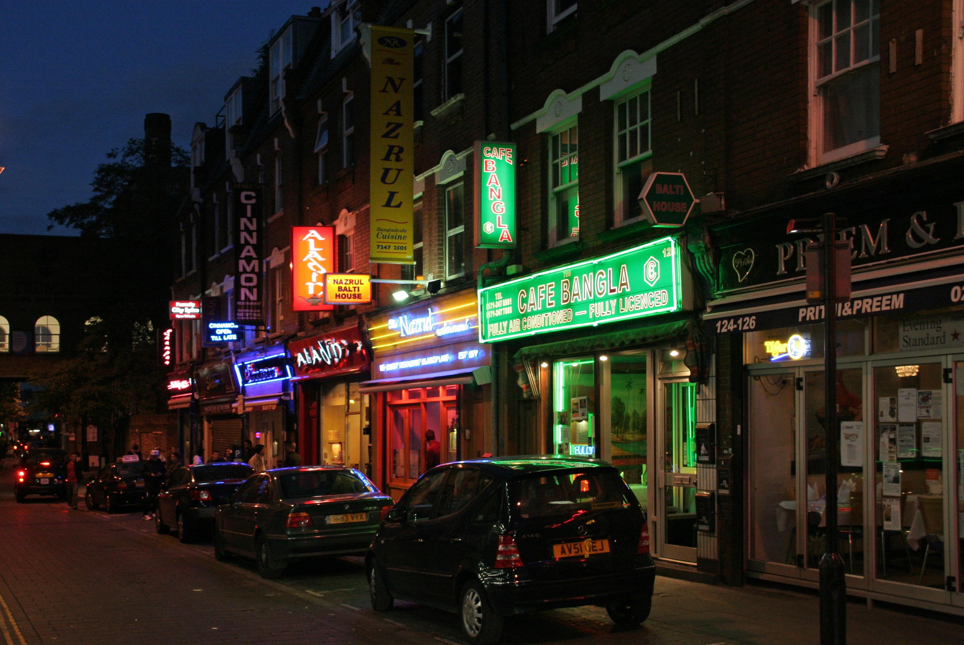 Brick Lane Restaurants London Uk