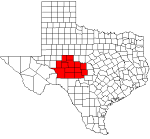 Concho Valley Region in Texas, United States