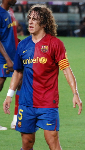 a photo of Carles Puyol at Joan Gamper Trophy ...