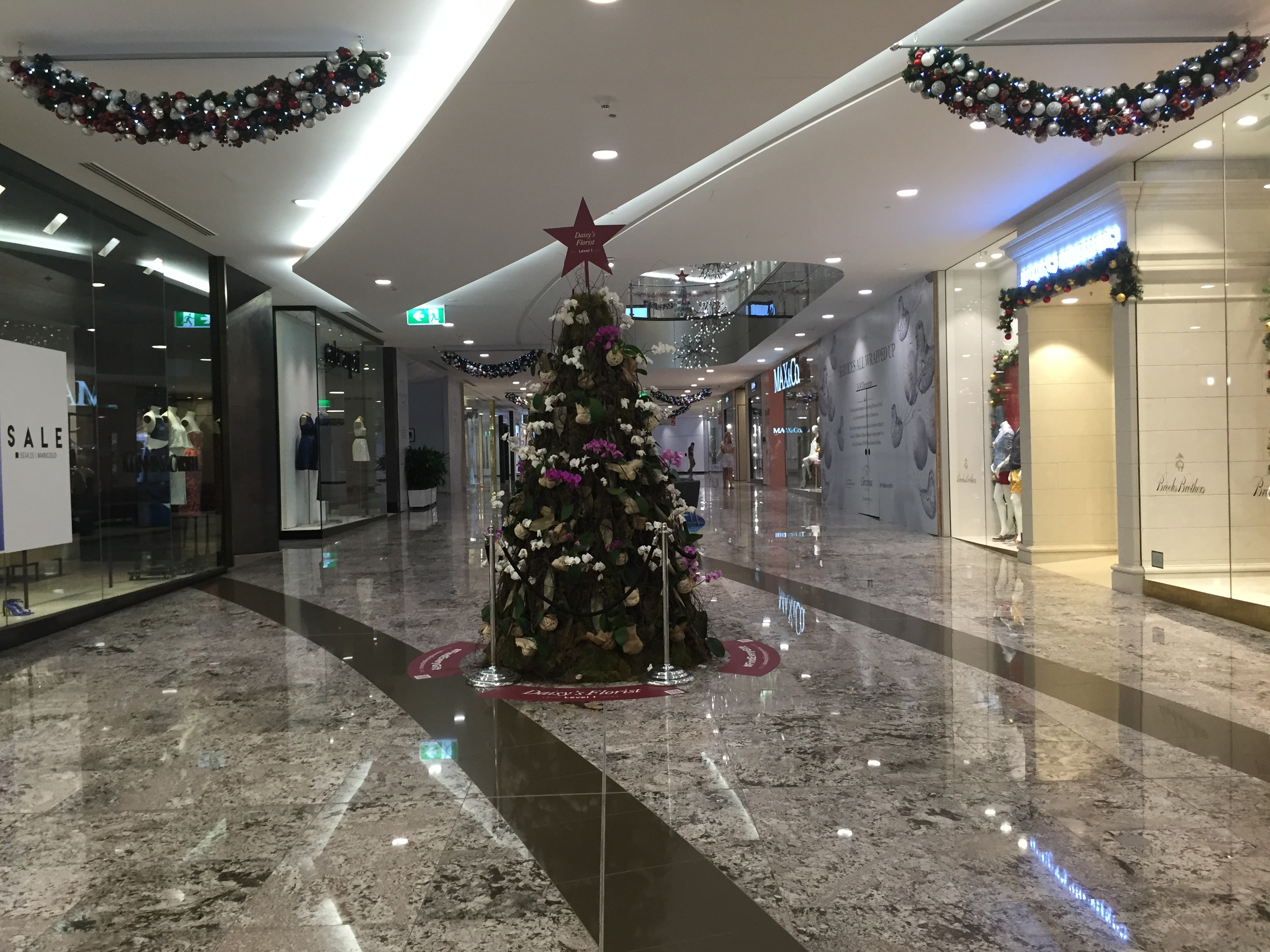 File:Christmas trees in Indooroopilly Shopping Centre