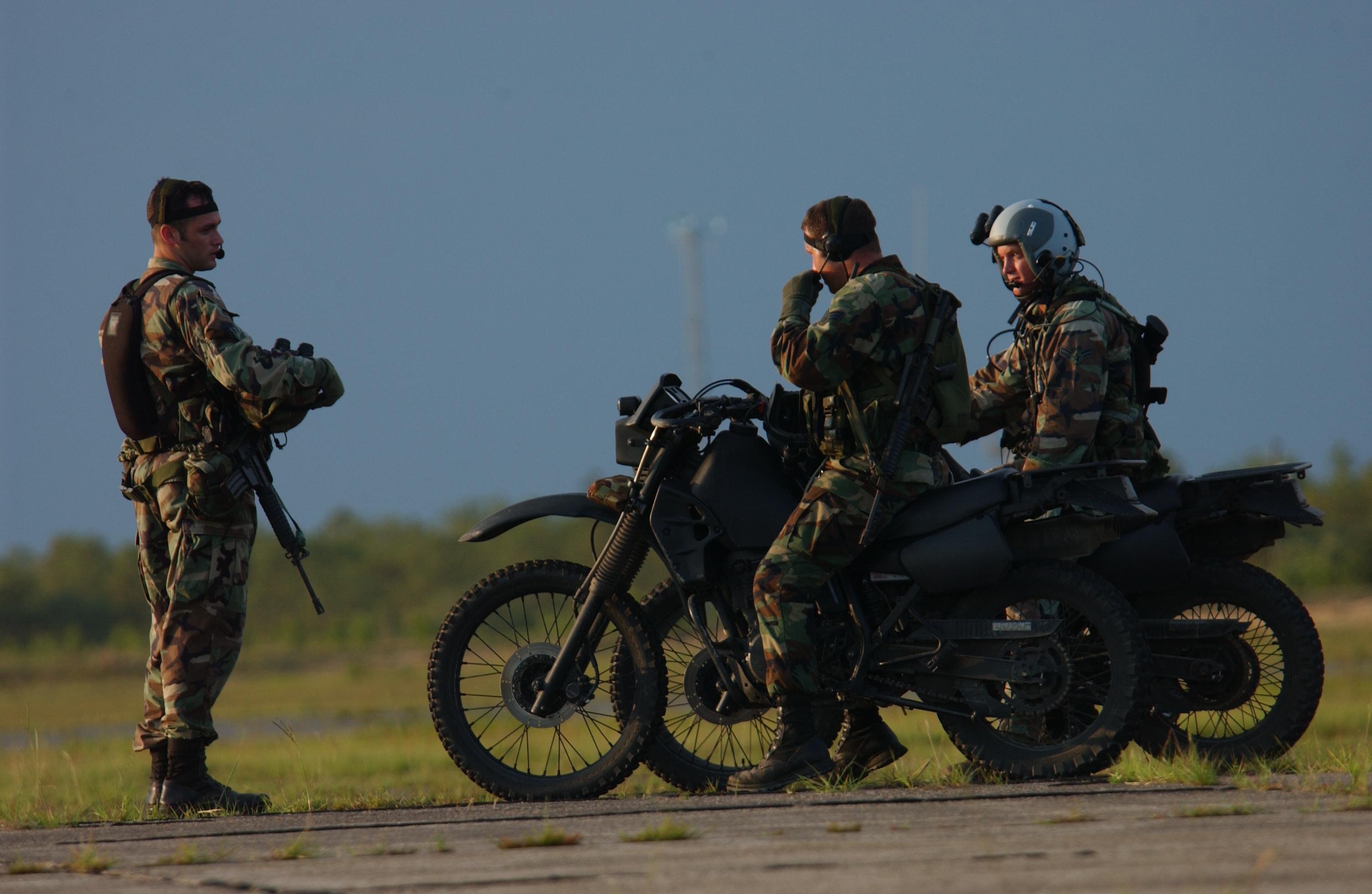 Combat Control Team on bikes