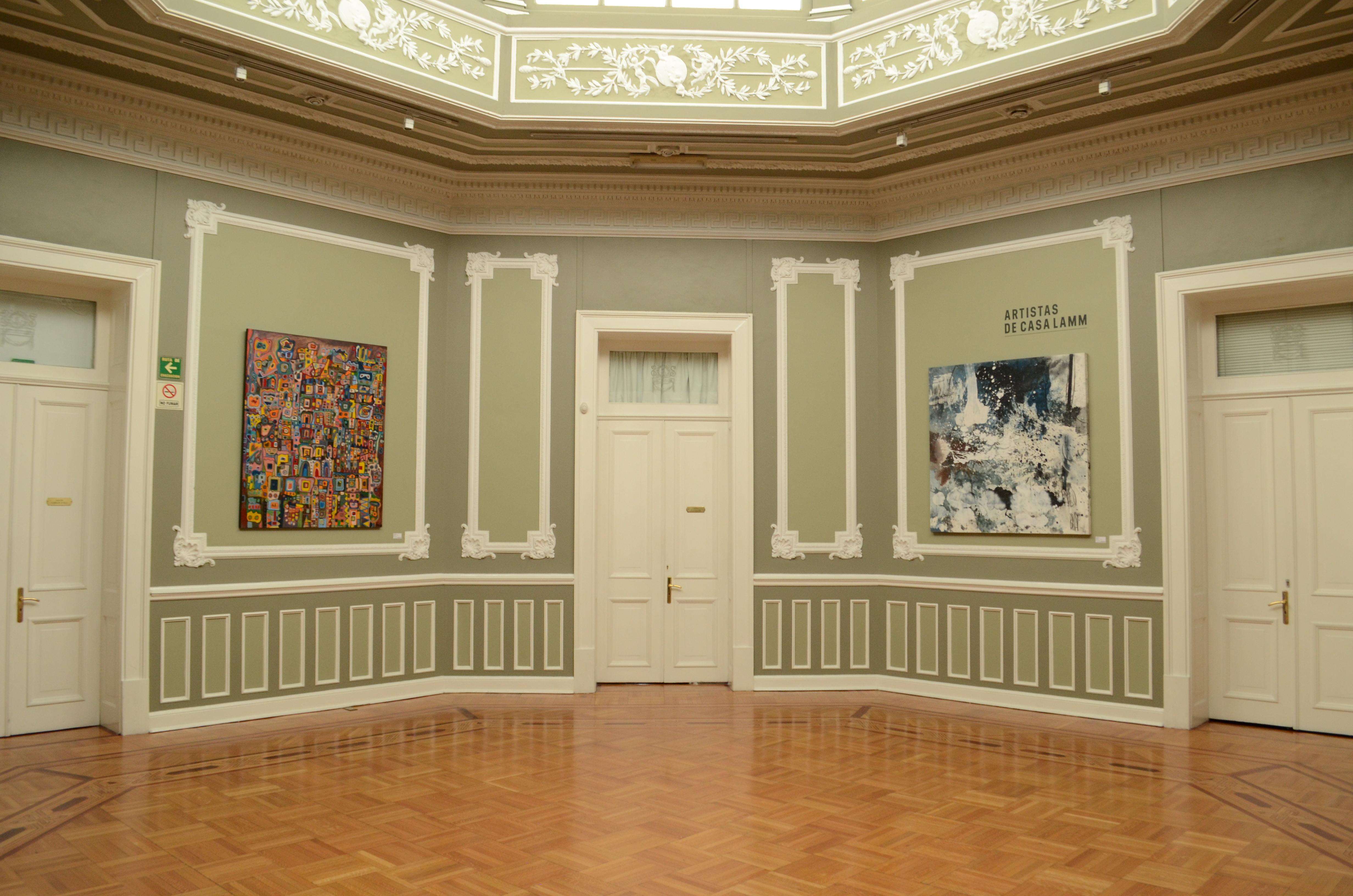 filedos pinturas en el saln del centro cultural casa lammjpg