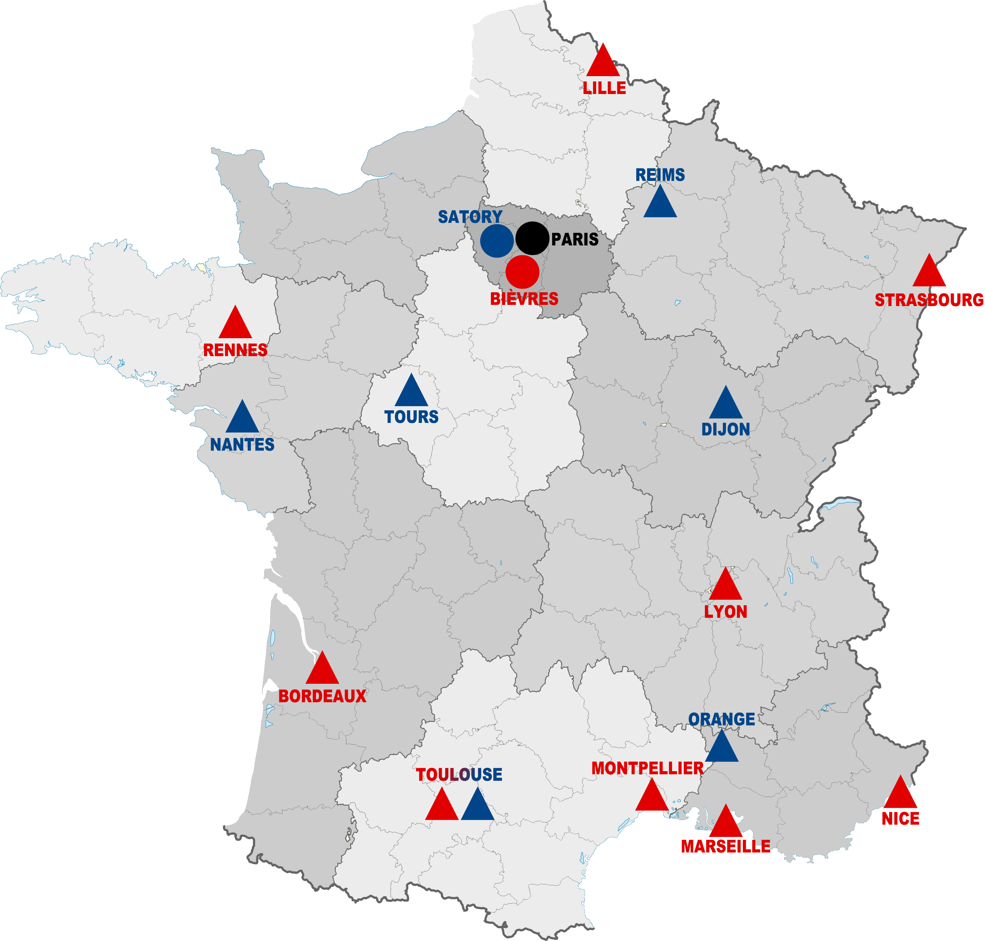 Montpellier Map Of France.File France Map French Intervention Force Police Gendarmerie 2016
