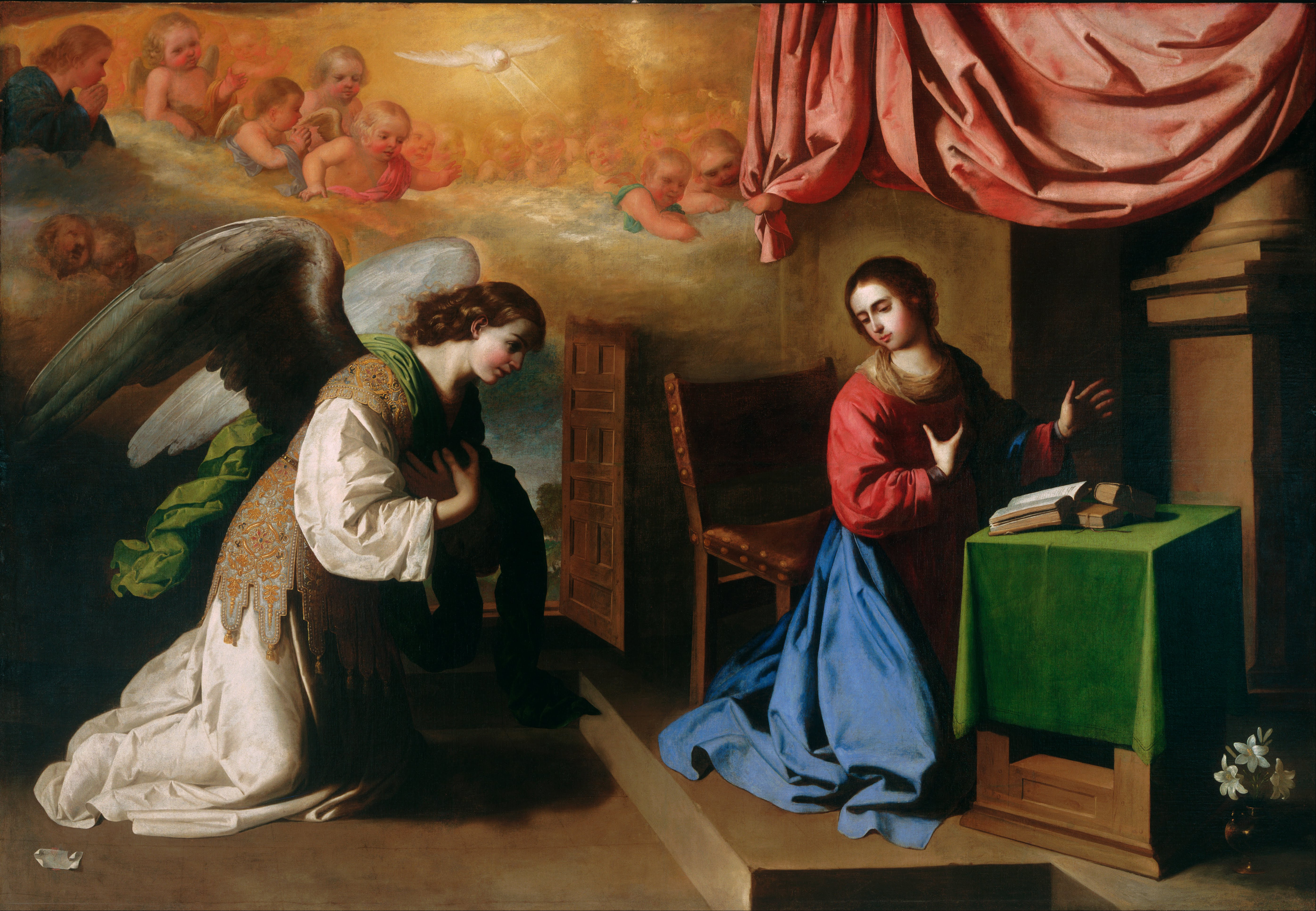 an analysis of the annunciation a painting by francisco de zurbaran A new painting of saint francis attributed to francisco de zurbarán (fig 1) has emerged from a private estate in america 1 the original version, which was known through a copy in the collection of the santa barbara museum of art, provides an opportunity for a proper comparison to similar.