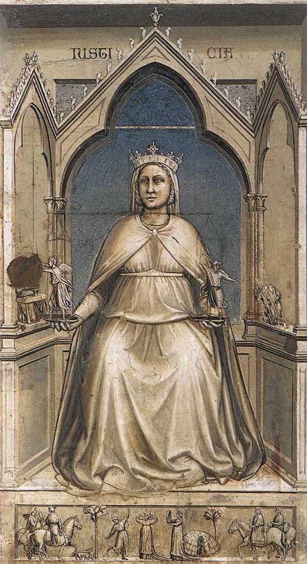 Giotto, la vertu de justice, Chapelle des Scrovegni, à Padoue dans images Giotto_di_Bondone_-_No._43_The_Seven_Virtues_-_Justice_-_WGA09270
