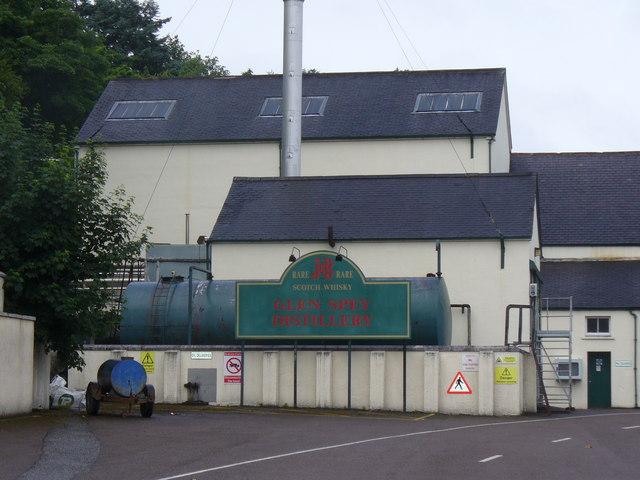 Ansicht von der bereits bestehenden Spey Distillery