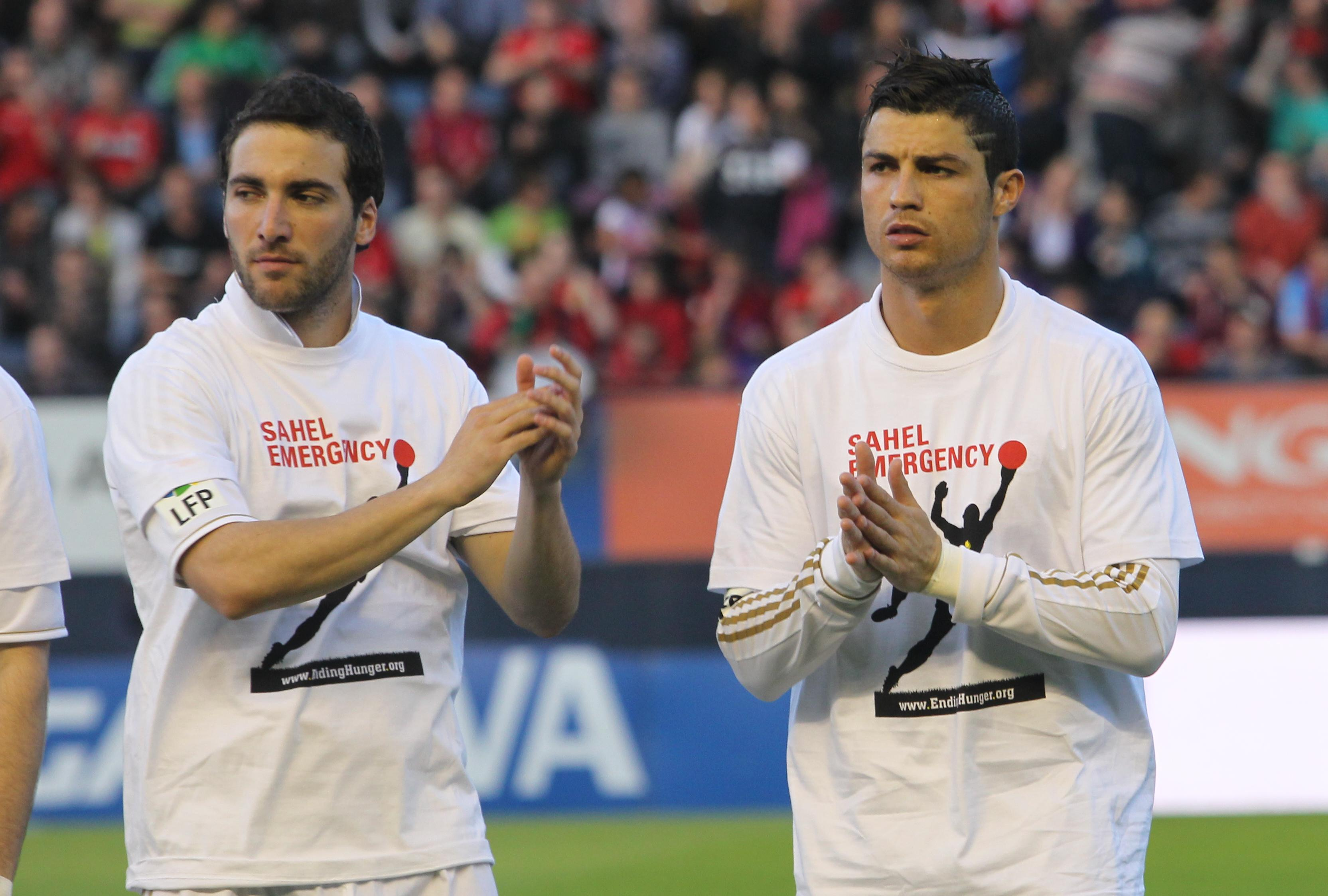 Image result for ronaldo with Gonzalo Higuain