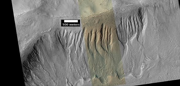 Gullies near Newton Crater