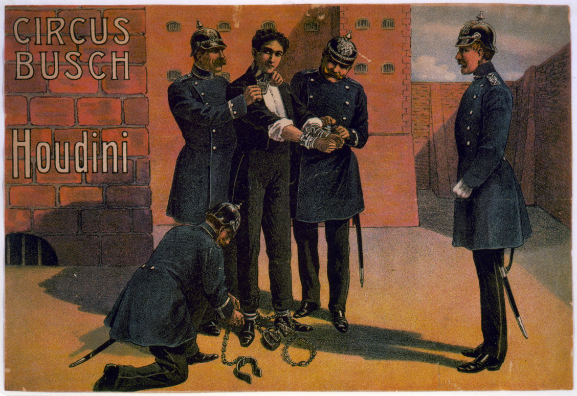 Houdini and the circus, Berlin, 1908.jpg