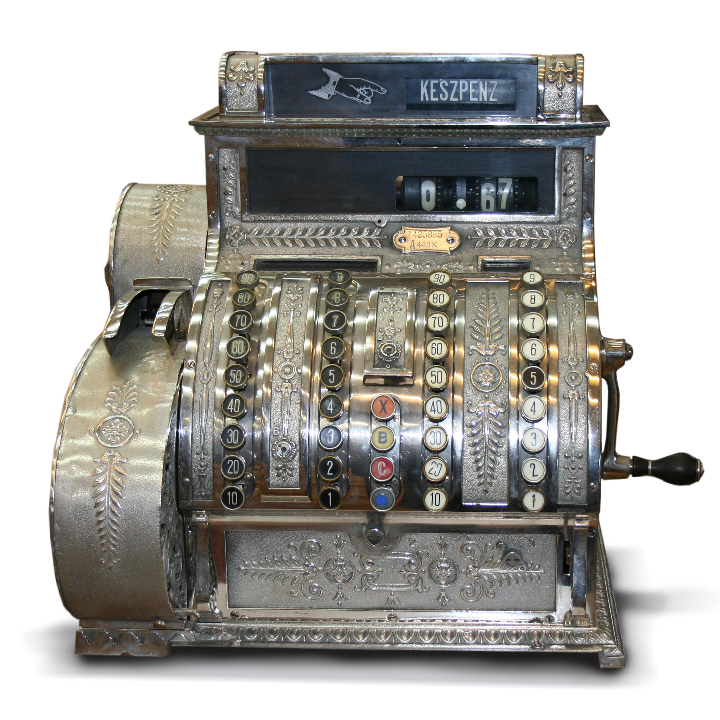Favori File:Hungarian Antique three-column full-keyboard cash register  UF97
