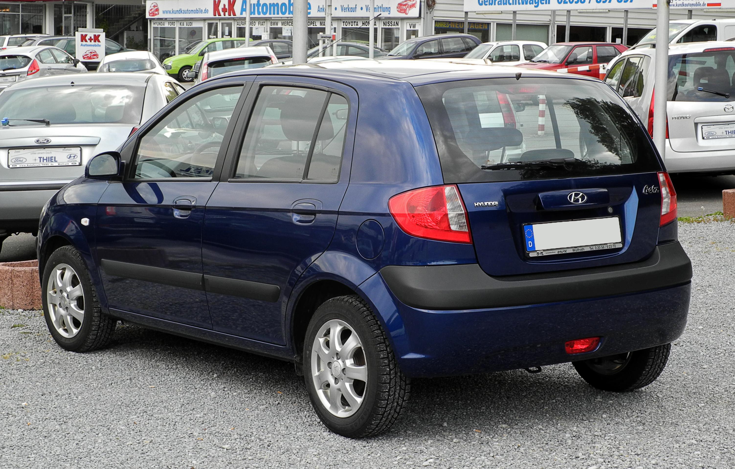 File Hyundai Getz Facelift Heckansicht 4 Juni 2011