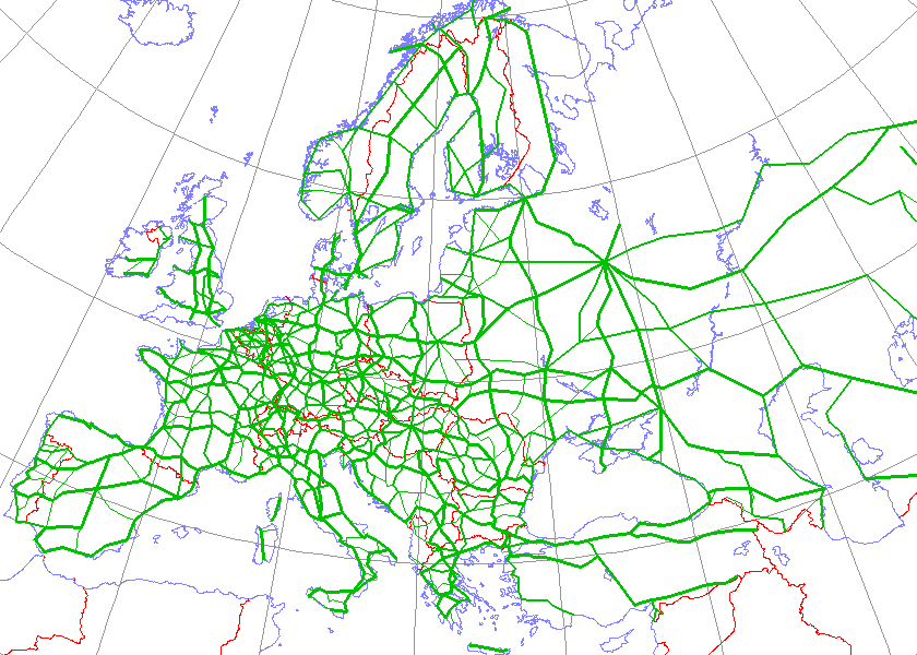 International Eroad network Wikipedia – European Travel Maps