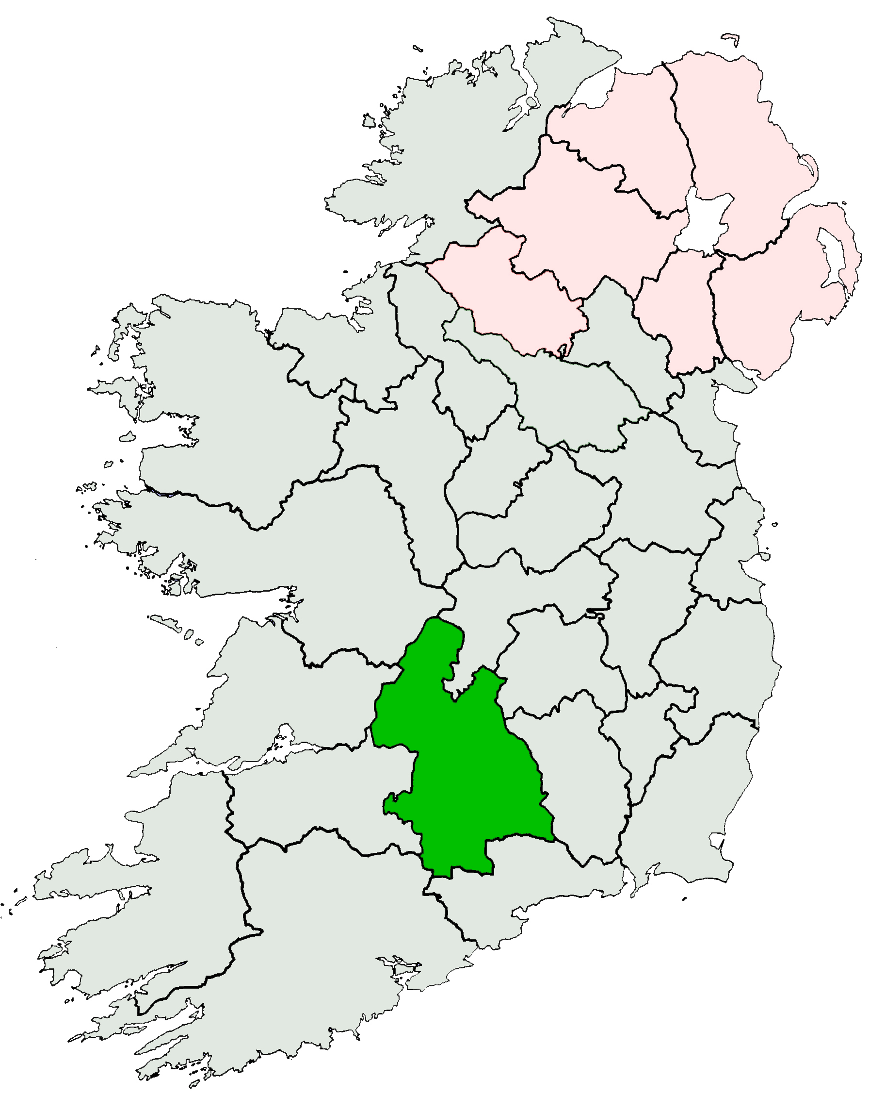 File:Ireland location Tipperary.   Wikimedia Commons