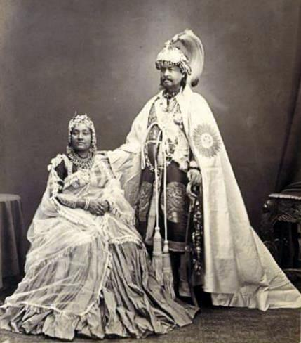 File:Jang Bahadur and second wife, 1860s.jpg