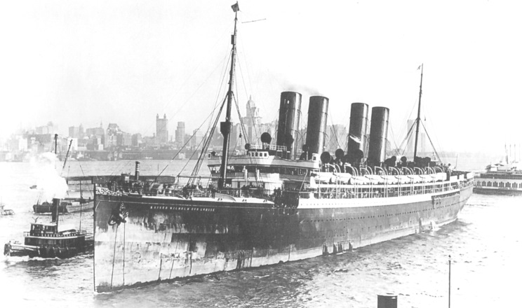 Kaiser Wilhelm der Grosse arriving at New York