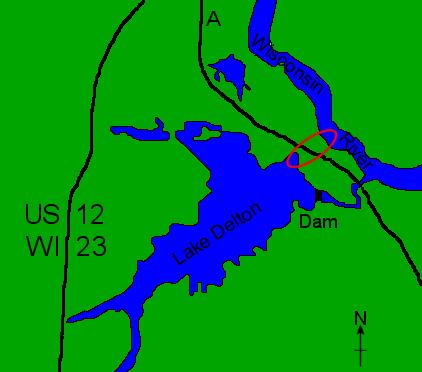 File:Lake Delton Wisconsin map.png
