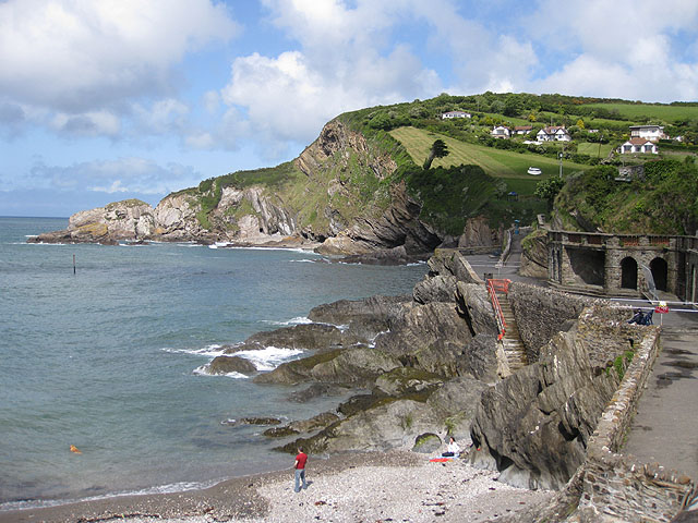 File:Lester Point and Newberry Beach, Combe Martin - geograph.org.uk - 1330087.jpg