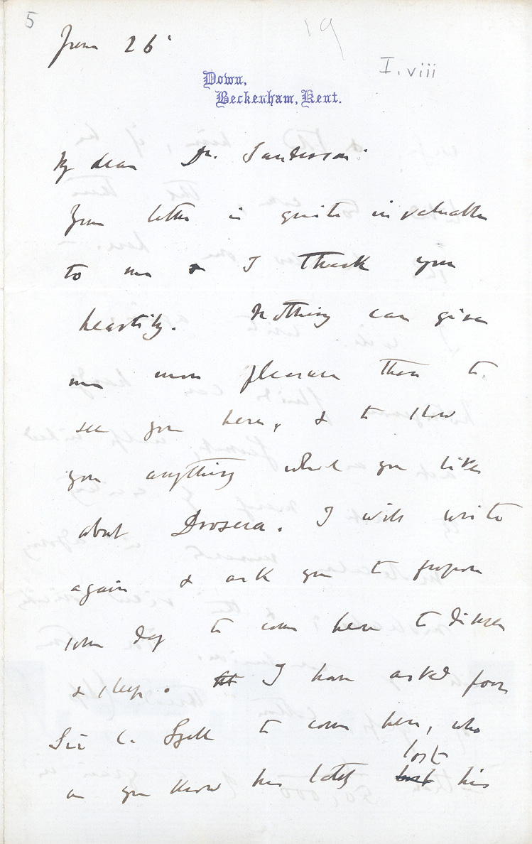 Charles Darwin's Letters Critical Essays