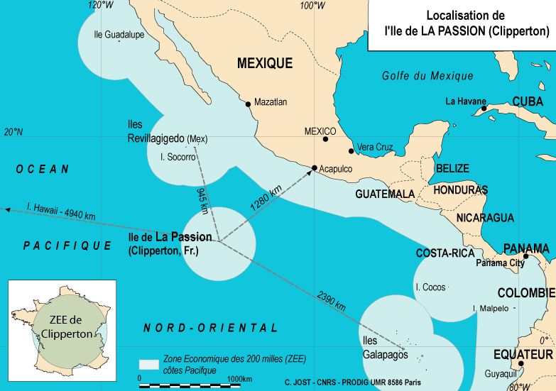 The extent of Costa Rica's western EEZ in the Pacific Localisation de l'ile de Clipperton.png
