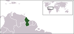 Kart over Co-operative Republic of Guyana