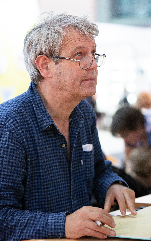 Scheffler at the 2018 [[Frankfurt Book Fair]]