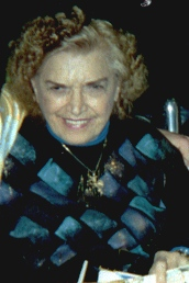 Mae Young at Houston Airport on April 2, 2001....