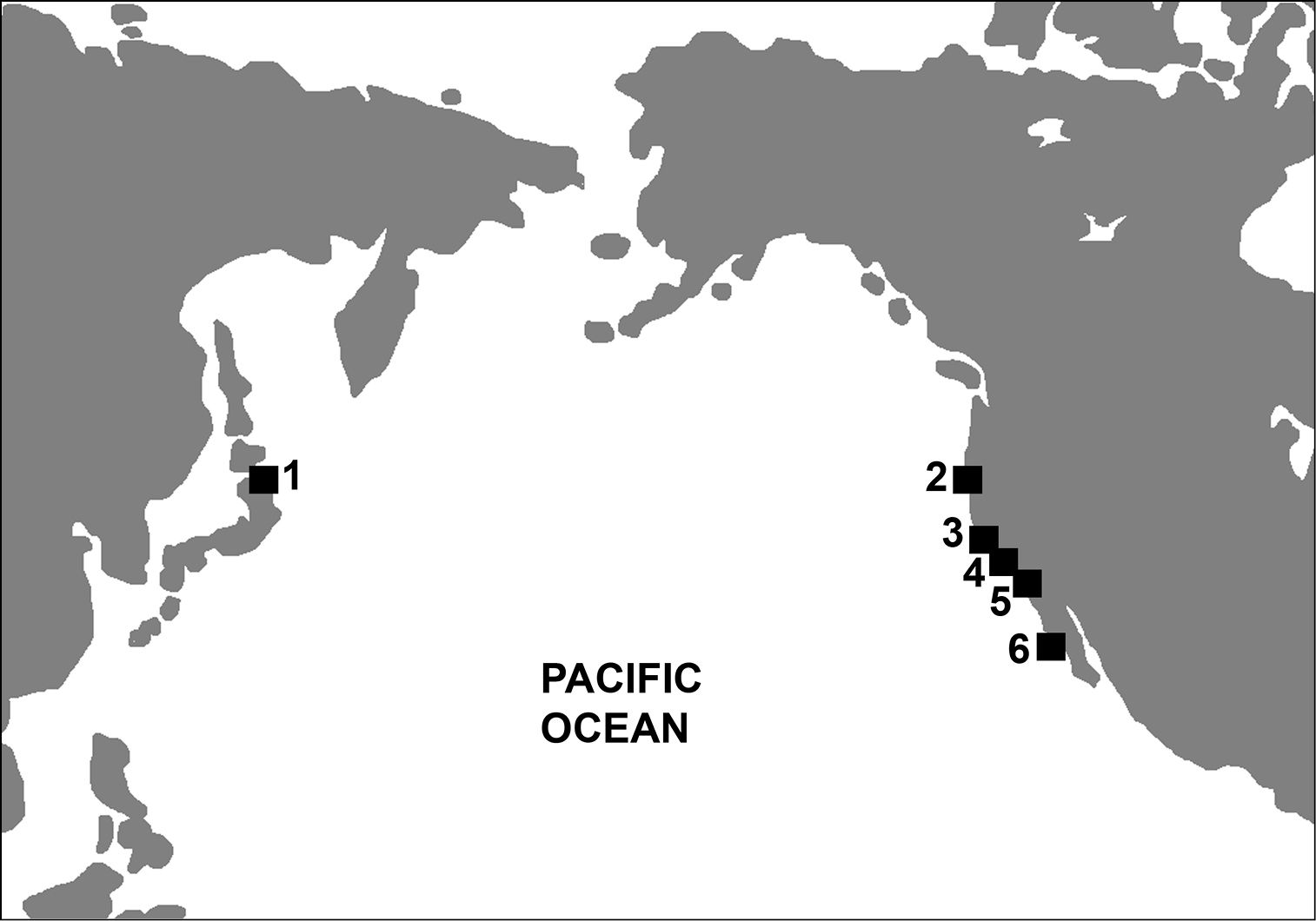FileMap depicting Mancallinae fossil localitiesjpg Wikimedia