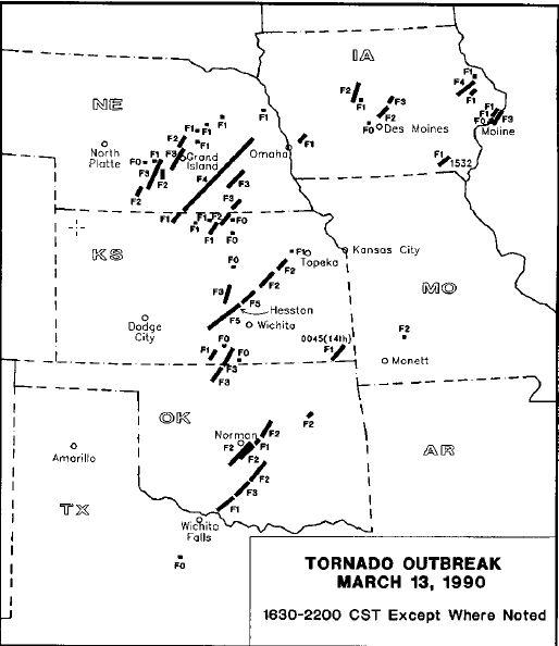 File:Map of tornadoes in the March 1990 tornado outbreak.jpg