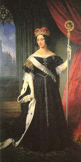 Princess Maria Theresia Isabella of Austria, a noble abbess with her crosier. Maria Theresia Isabella Austria 1816 1867 portrait.jpg