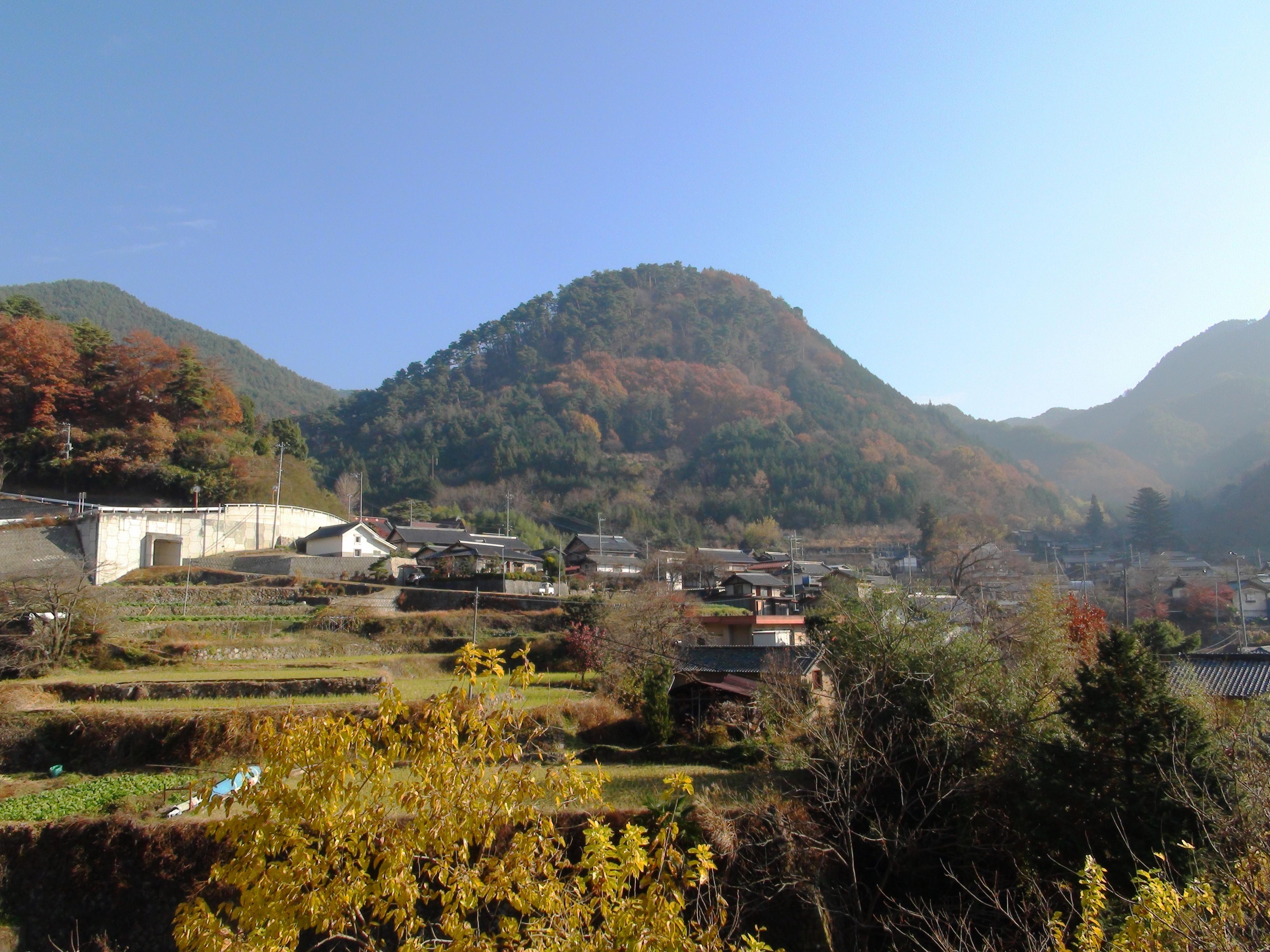 麓から望む要害山(2010年12月撮影)