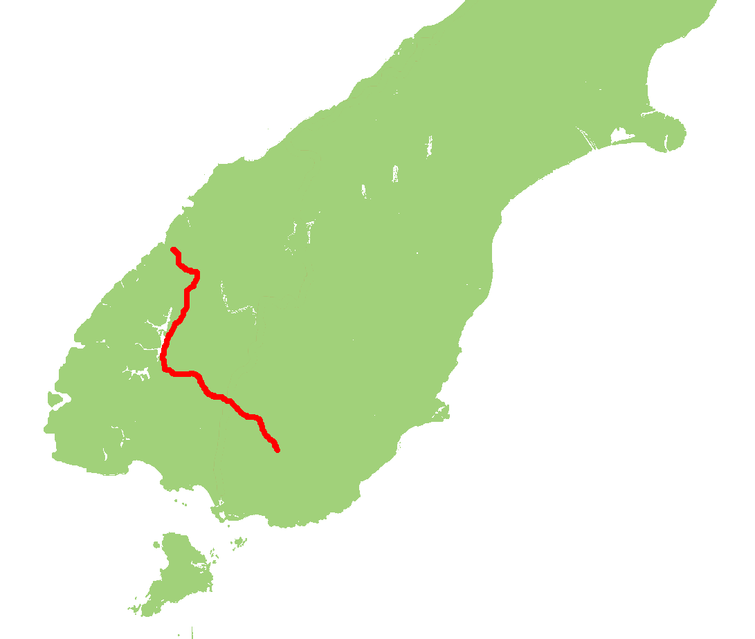 New Zealand Highway Map.New Zealand State Highway 94 Wikipedia