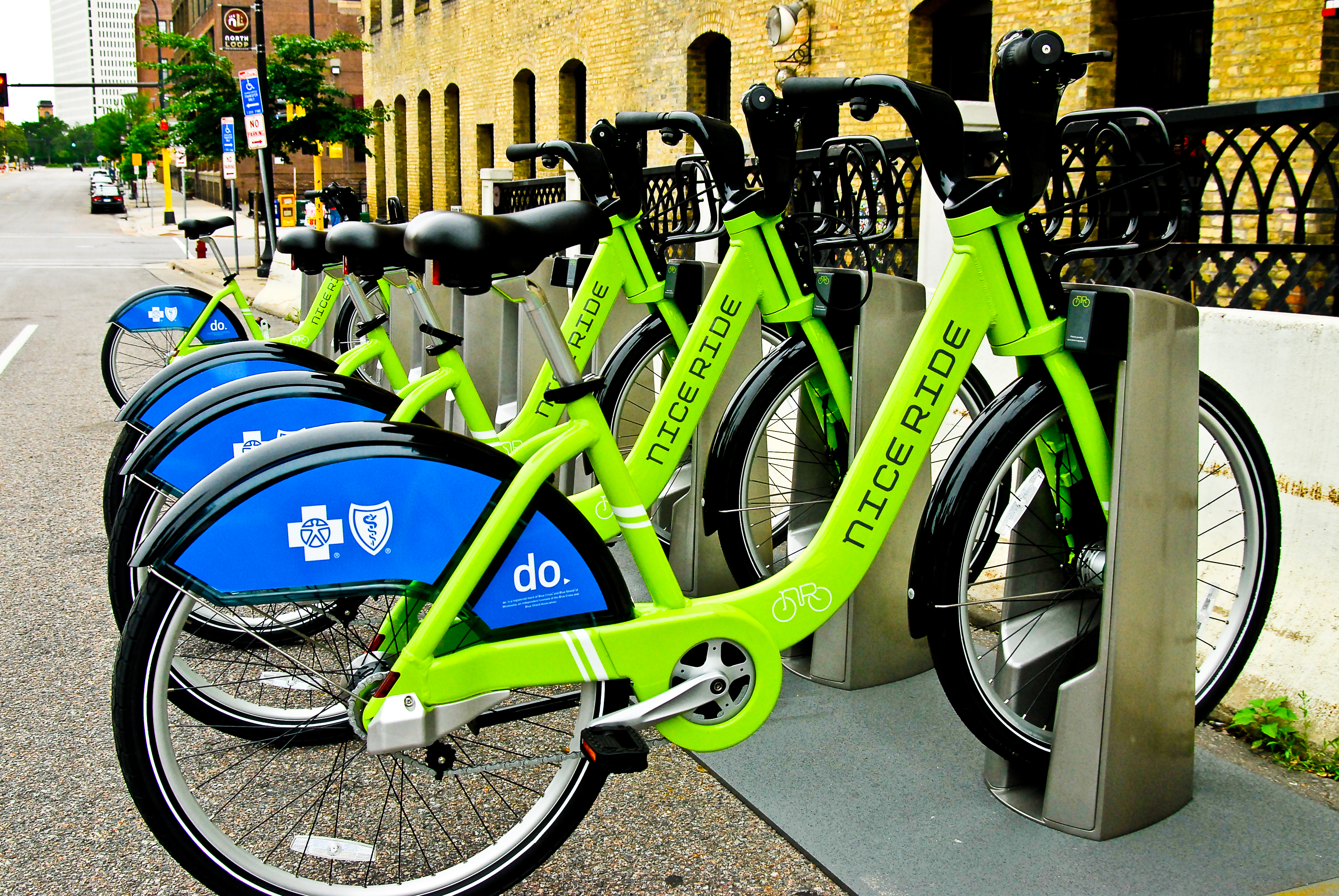 Bikes Minneapolis Nice Ride Bike Kiosk jpg