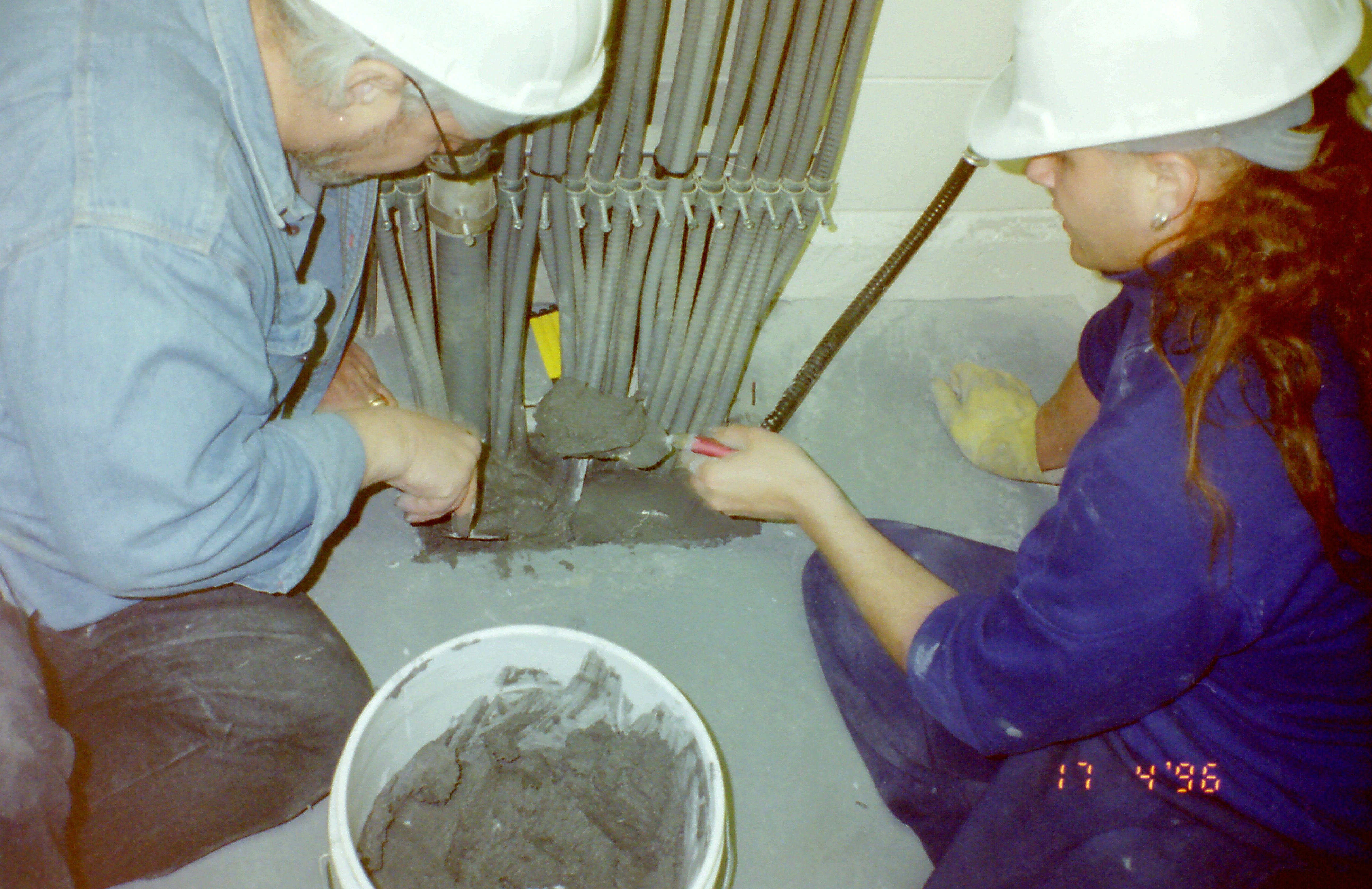 3m Fire Barrier Mortar : File oldroyd and son installing m fire barrier mortar st