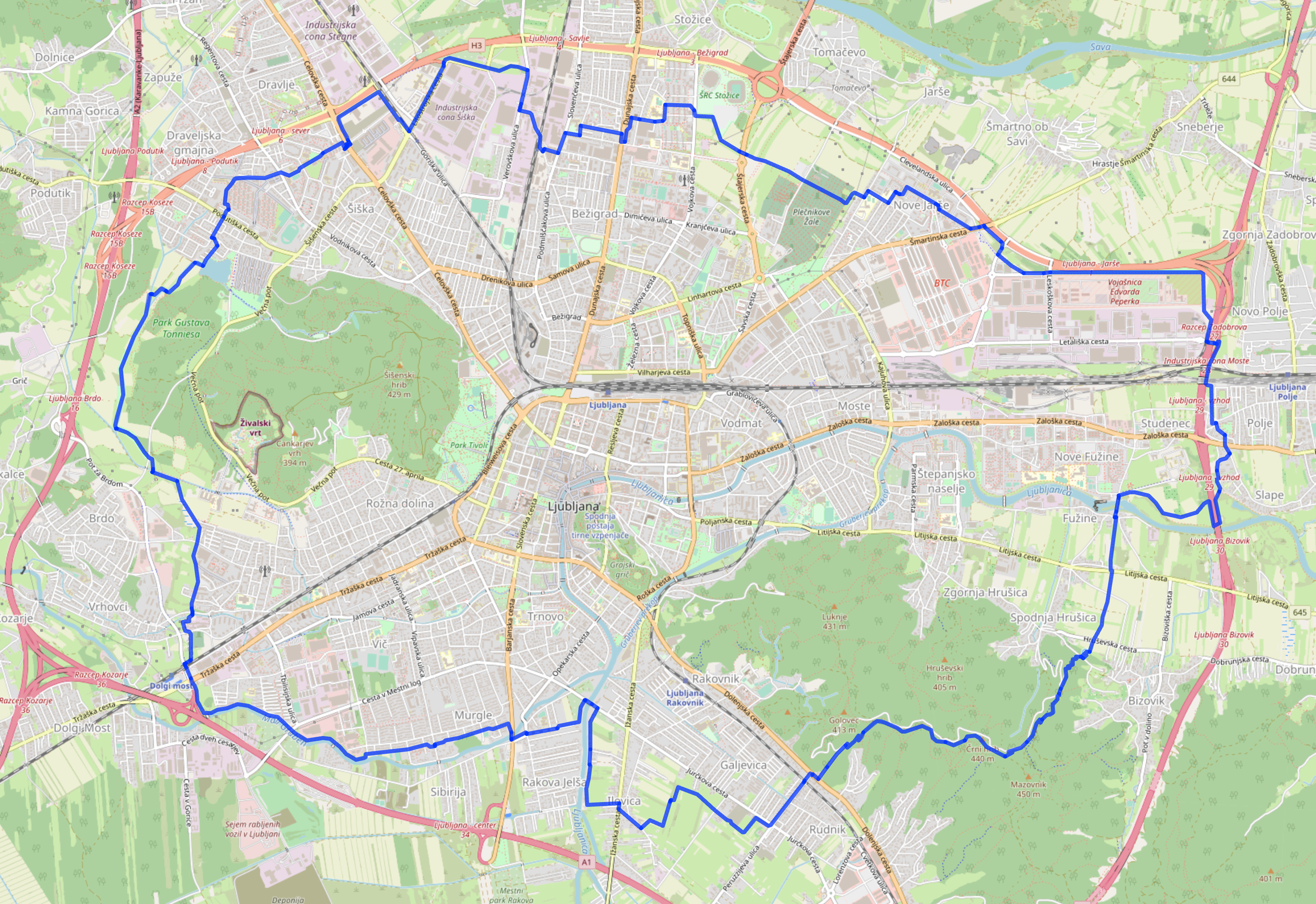 btc liubliana zemljevid)