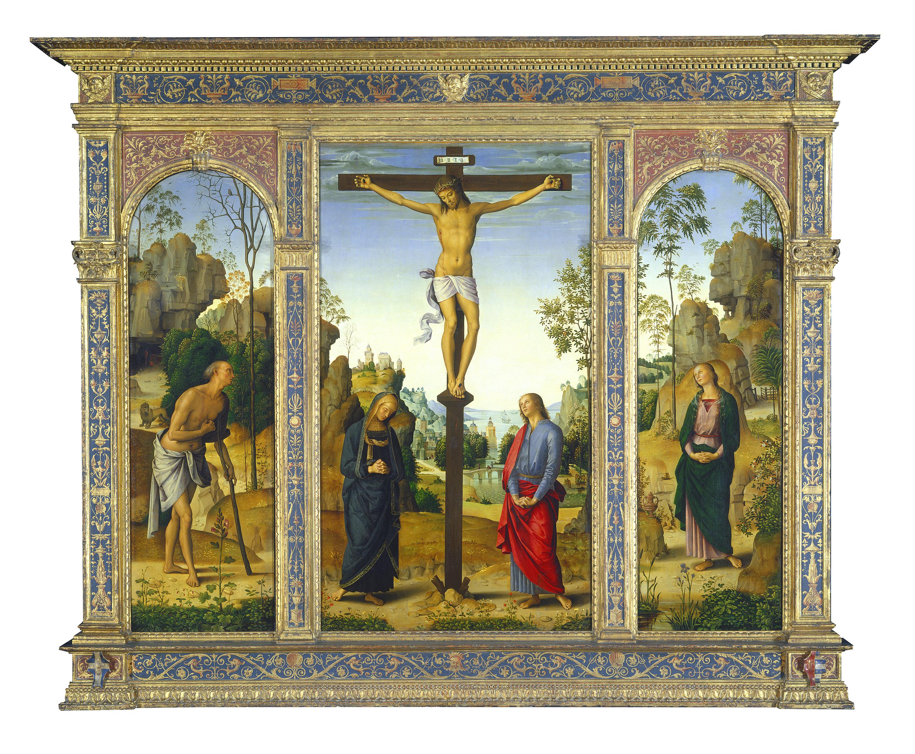 File:Perugino - The Crucifixion with the Virgin, Saints John, Jerome