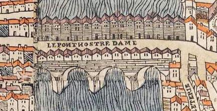 Fichier:Plan de Paris vers 1550 Pont ND.jpg