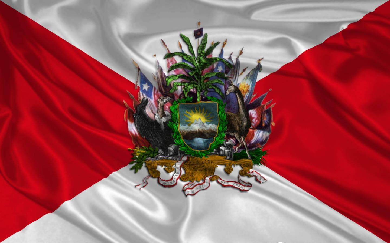 Archivo Primer Escudo Y Primera Bandera Del Peru Jpg Wikipedia La Enciclopedia Libre