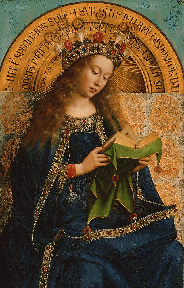 The Virgin Mary from the Ghent Altarpiece, 1432 Jan van Eyck (circa 1390–1441) Wikipedia