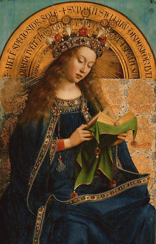 The Blessed Virgin Mary from the Ghent Altarpiece, circa 1432 dans immagini sacre Retable_de_l%27Agneau_mystique_%283%29